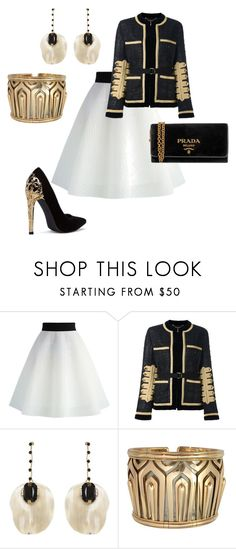 """Untitled #1947"" by styledbytjohnson on Polyvore featuring Chicwish, Givenchy, Marni, Cartier and Prada"