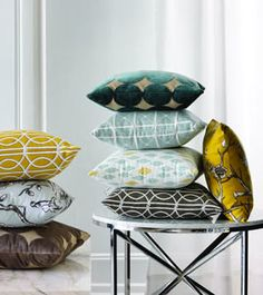 Moder pillows by Robert Allen at Calico Corners   Design Dose