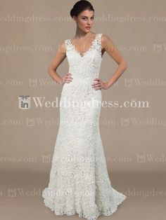Elegant V-neck Lace Wedding Dress DE214 New