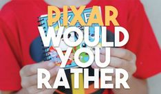 """This Pixar-themed Would You Rather questions game is """"Incredible!"""" Keep reading to find out how you can make this """"super"""" game at home. Would You Rather Game, Would You Rather Questions, Disney Diy, Disney Trips, Trip Countdown, Question Game, In And Out Movie, Pixar, How To Find Out"""