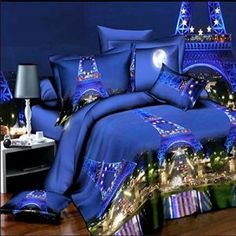 Exciting Eiffel Tower Bedding Theme