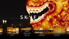 Skyfall Blu-ray audio menu