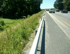 Rolled with heavy damage in the median