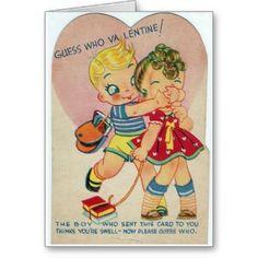 De vintage Geheime Kaart van de Dag van de Valenti