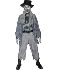 Zombie Ghost Pirate Costume | Adult Scary & Pirates