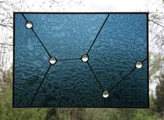 Cassiopeia Constellation Stained Glass Window Panel |