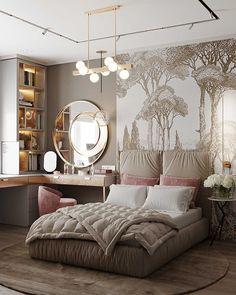 Luxury Bedroom Design, Room Design Bedroom, Girl Bedroom Designs, Home Room Design, Rich Girl Bedroom, Pinterest Room Decor, Showroom Interior Design, Cute Bedroom Decor, Cozy Room