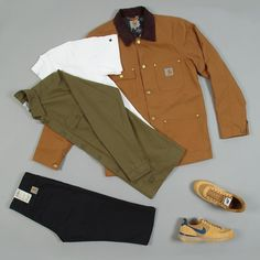 This week's look features signature workwear silhouettes from @carharttwip in Autumnal colours of browns and olive greens along with @nike's Lavadome silhouette.  To find out more about the pieces featured and how to wear the look head over to our blog (blog.fatbuddhastore.com) now @fatbuddhastore #fatbuddhstore #glasgow #carharttwip #carhartt #nike #lavadome #outfitgrid #igs #igers #igdaily #instadaily #instastyle #style #stylegram #wdywt #dailygram #fashion