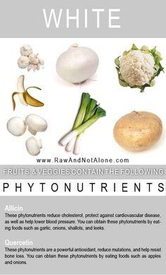 White Fruits & Veggies