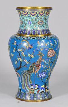 Chinese Palace Size Cloisonne Vase : Lot 18