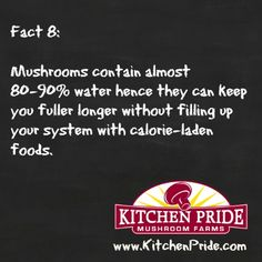 Looking to cut back on calories, but want to feel full? Fact #8 is for you! #NationalMushroomMonth