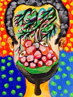 'Self-Portrait with  Cherry Tree' by Rony.