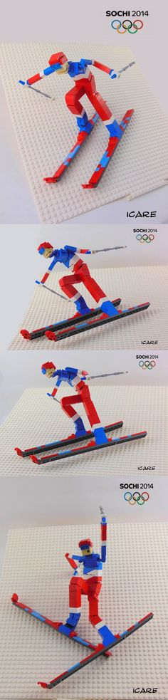 LEGO Olympic skiing.  Try building a skier.