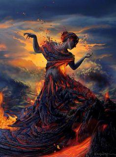 Pele: Hawaiian Goddess of Fire ][ Visit us at The Pagan Corner with Cu & Sin https://www.facebook.com/cuspagancorner