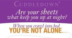 """Cuddledown: """"Are Your Sheets What Keep You Up At Night?"""" Infographic"""