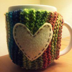 my first DIY mug cozy...yay for homemade Christmas presents!
