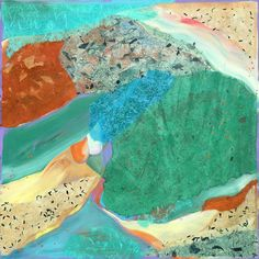 "CORNWALL Acrylic & Cut Paper on Canvas 24"" x 24"""