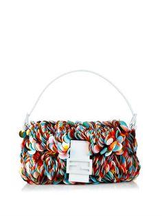 Fendi Baguette sequinned shoulder bag