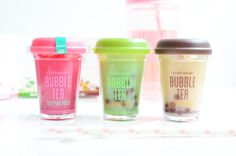Les masques de nuit coréens Etude House Bubble Tea Sleeping Pack (Green Tea, Strawberry, Black Tea) #etudehouse #letyourpinkout #bubbletea #kawaii #seoul #korea #beauté #beauty #cosmétiquesasiatiques #cosmétiquescoréens #kbeauty #asiancosmetics #koreancosmetics #rasianbeauty #corée #asie #beautédeporcelaine