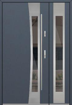 porte d entrée sécurisée | porte d entrée double | porte entree double | porte double vantaux Double Front Entry Doors, Modern Front Door, Solid Doors, Winchester, Colores Ral, Glazed Doors, Glazed Glass