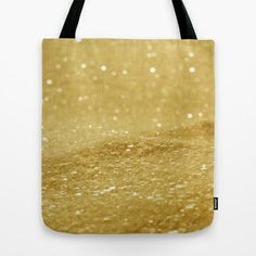 Glitter Gold Tote Bag by Alice Gosling - $18.00  ALL Tote Bags are now full bleed, printed both sides and available in 3 sizes #bag #glitter #sparkle #sparkling #glittery #gold