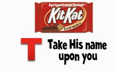 Strong Armor: Baptism Talk with Kit Kat Reminder.  So using this as S baptism talk.