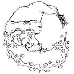Santa Moon - Small Unmounted Stamp by Classic Stampington & Company