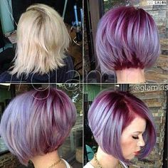 Bob Hair Purple Color