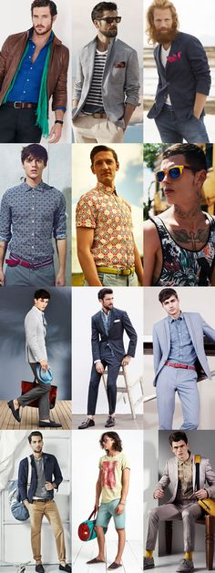 Men's Colourful/Statement Accessories - Summer Outfit Inspiration Lookbook