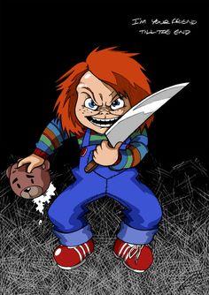 Chucky by DeusArtMachina on DeviantArt Chucky Horror Movie, Horror Movie Characters, Horror Movies, Fictional Characters, Horror Icons, Horror Art, Childs Play Chucky, Halloween Horror, Scary Movies