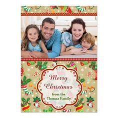 Christmas Stocking Greetings Custom Invites