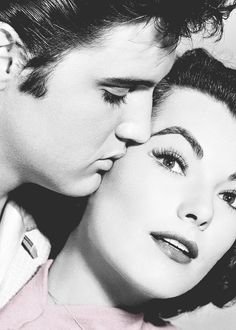 "Elvis Presley and Judy Tyler in ""Jailhouse Rock"", 1957."