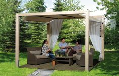 Pavillon WEKA «Gartenoase 235» mit Planendach   Kaufen im Holz-Haus.de Garten-Baumarkt Online-Shop