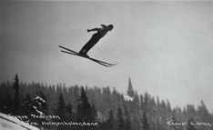 Trygve Pedersen, Holmenkolrendene 1927. Postkort: Gran