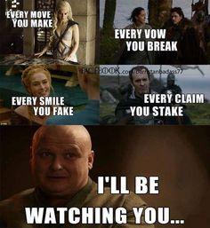 Daenerys Targaryen, Talisa Maegyr, Robb Stark, Cersei Lannister, Stannis Baratheon & Lord Varys