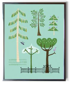 TREES AT THORNFIELD print by Alison Oliver