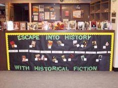 Library display for Historical Fiction : timeline