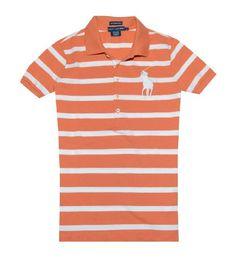 Ralph Lauren Women The Skinny Polo Striped Big Pony Logo T-shirt $59.99 (save $38.01) + Free Shipping