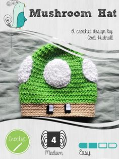 Looking for your next project? You're going to love Mario Mushroom Beanie Hat by designer Codi Hudnall.