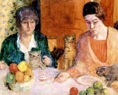 The Cat's Lunch Pierre Bonnard - circa 1906