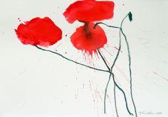 Artist - Oskar Koller | GALLERY Online Galerie, Floral Artwork, Flower Power, Christian, Colours, Watercolor, Gallery, Flowers, Painting