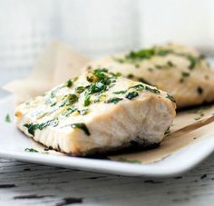 Easiest Baked Halibut. Grab a couple of halibut fillets and some leafy parsley and let your kitchen staples do the rest of the work. A simple blend of flavors is all you need for a fresh and fulfilling oven baked halibut dinner in just 20 minutes.