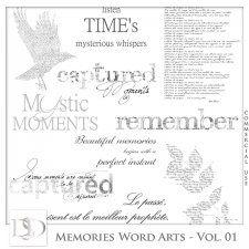 Memories Word Arts Vol 01 by D's Design  #CUdigitals cudigitals.com cu commercial digital scrap #digiscrap scrapbook graphics