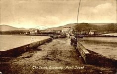 The Sound, Causeway, Achill Island County Mayo, Old Irish, Old Postcards, Newport, Old Photos, Railroad Tracks, Ireland, Holiday, Pictures