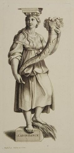 Abundance. Gérard Audran. After Raphael.