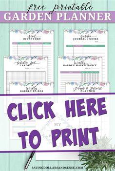 Grab Your Free Seed Garden Journal - Saving Dollars & Sense Vegetable Garden Tips, Starting A Vegetable Garden, Gardening For Beginners, Gardening Tips, What To Plant When, Free Garden Planner, Date Plant, Verticle Garden, Garden Maintenance