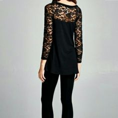 ** The Sophisticated Blouse Black !! Beautiful Lace top in sizes S M L  look amazing and sophisticated in this versatile blouse  No Trade  No paypal  Discount on Bundles  Please let me know which size you prefer  Price Firm unless bundled Boutique  Tops Blouses