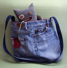 Recycled clothes become monsters and bags on this fun site recommended by my friend Tia!