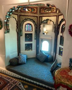 Royal Suite @ Deogarh Mahal. Deogarh. Royal Bed, Mansion Interior, India Travel, Traveling, Mansions, Furniture, Home Decor, Viajes, Decoration Home