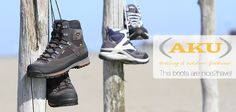 AKU Boots - our new nice2have! Transalpina W's GT & Conero GTX. #woman #man #shoes #backpacker